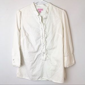 LILY PULITZER | Popover Button Up Ruffle Blouse 6